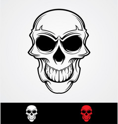 Skulls tattoo design vector