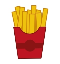 French fries delicious fast food isolated vector