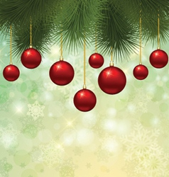 Christmas tree background vector