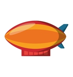 Zepeling fly isolated icon vector