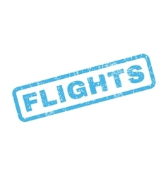 Flights rubber stamp vector