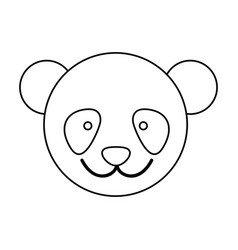 figure face bear icon vector image