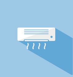 air conditioning icon with shade on blue vector image