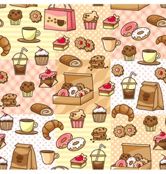 coffee and cakes vector image