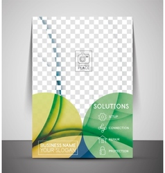 Green design business corporate print template vector