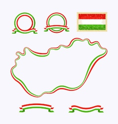 Colors of hungary vector