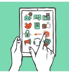 Social Media Tablet vector image