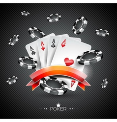Casino with poker symbols vector