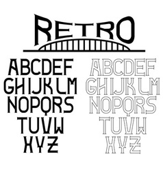Retro alphabet for labels vector
