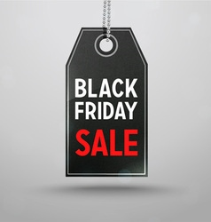 Black Friday Sale Price Tag vector image