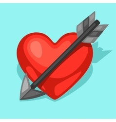 Background with heart and arrow concept can be vector