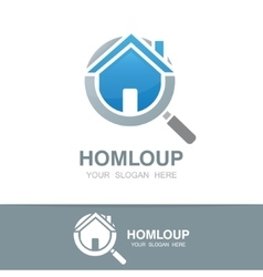 Loupe and house logo vector