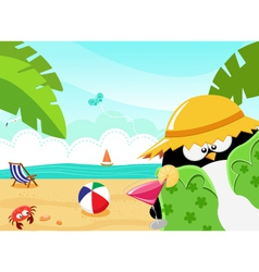 Summer Penguin vector image