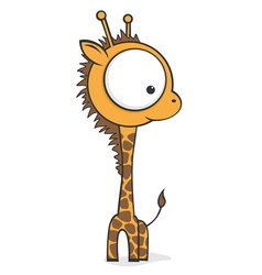 Big eyed giraffe vector