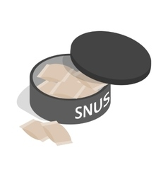 Swedish snus chewing tobacco icon vector