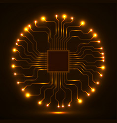 abstract cpu microprocessor microchip circuit vector image