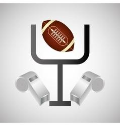 American football icon design vector image