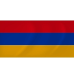 Armenia waving flag vector