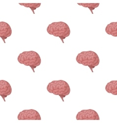 Brain icon in cartoon style isolated on white vector