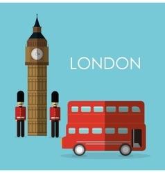 Bus big ben london england design vector
