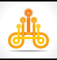 Business icon with hand light-bulb vector image vector image