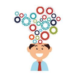 Businessman big ideas vector