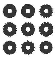 Circular saw blades set vector