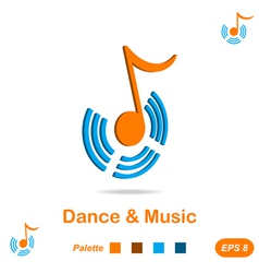 Dance and music concept sign vector image vector image