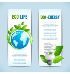 Ecology vertical banners vector image