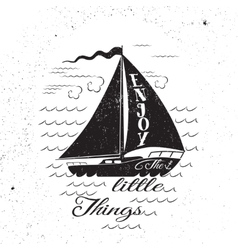 Enjoy the litttle things hand drawn poster vector