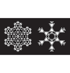 Ethnic Fractal Mandala looks like Snowflake or vector image