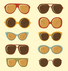 Fashion sunglasses set vector image