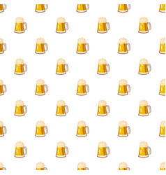 glass mug with beer pattern vector image
