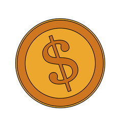 golden coin icon image vector image vector image