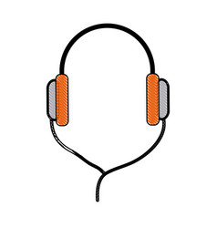 headphones technology volume music listen vector image vector image