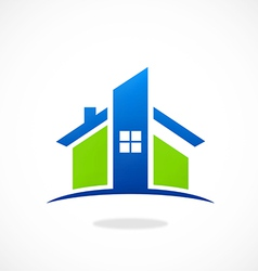 home real estate abstract construction logo vector image vector image