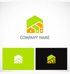House real estate company logo vector