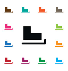 Isolated skates icon slide element can be vector