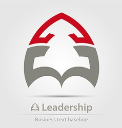 Leadership business icon vector image vector image