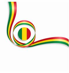 Malian wavy flag background vector