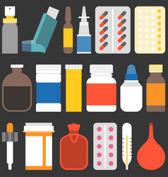 Medicine collection set 2 vector