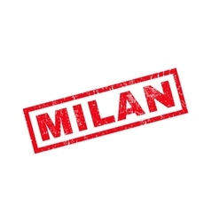 Milan rubber stamp vector
