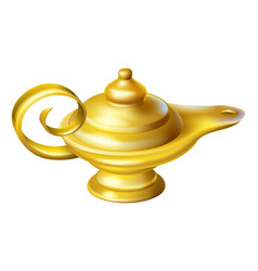 Oil lamp vector