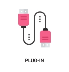 plug in icon vector image