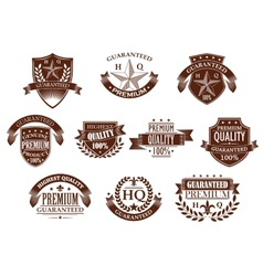 Premium and highest quality guaranteed labels vector