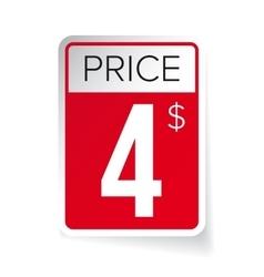 Price tag sticker - four usd vector