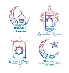 ramadan kareem logo design vector image vector image