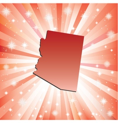 Red Arizona vector image vector image