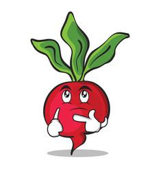 Thinking radish character cartoon collection vector