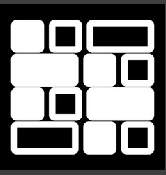Tile it is the white color icon vector